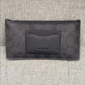 Coach F41383 Smartphone Zip Wallet Black